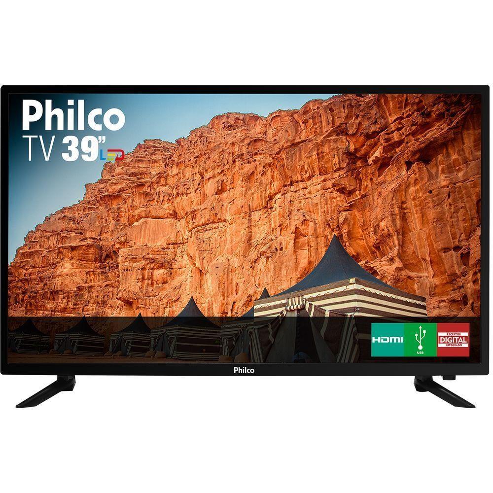 Tv Philco Led 39'' | Conversor Digital |3 HDMI| 1 USB | Som Surround 60 hz| Modelo-  PTV39N87D